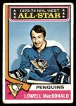 1974 Topps #133   -  Lowell MacDonald All-Star Front Thumbnail