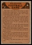 1974 Topps  Checklist   Oakland Raiders Team Back Thumbnail