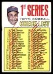 1967 Topps #62 T  -  Frank Robinson Checklist 1 Front Thumbnail
