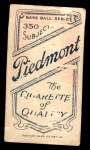 1909 T206  Bob Unglaub  Back Thumbnail