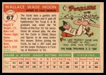 1955 Topps #67 xDOT  Wally Moon  Back Thumbnail