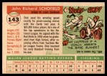 1955 Topps #143  Dick Schofield  Back Thumbnail