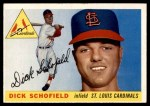 1955 Topps #143  Dick Schofield  Front Thumbnail