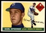 1955 Topps #90  Karl Spooner  Front Thumbnail