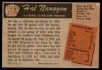 1955 Bowman #129  Hal Naragon  Back Thumbnail