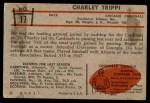 1953 Bowman #17  Charley Trippi  Back Thumbnail