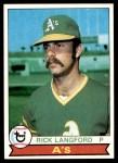 1979 Topps #29  Rick Langford  Front Thumbnail