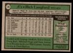 1979 Topps #29  Rick Langford  Back Thumbnail