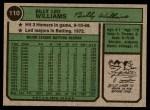 1974 Topps #110  Billy Williams  Back Thumbnail