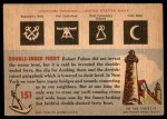 1955 Topps Rails & Sails #151   Ferry Boat Back Thumbnail