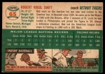 1954 Topps #65  Bob Swift  Back Thumbnail
