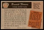 1955 Bowman #254  Bennett Flowers  Back Thumbnail