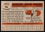 1956 Topps #76  Dick Bielski  Back Thumbnail