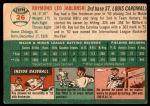 1954 Topps #26 WHT Ray Jablonski  Back Thumbnail