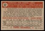 1952 Topps #307 xSTR Frank Campos  Back Thumbnail