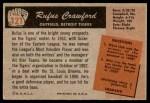 1955 Bowman #121  Rufus Crawford  Back Thumbnail