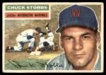1956 Topps #68  Chuck Stobbs  Front Thumbnail