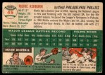 1954 Topps #45 WHT Richie Ashburn  Back Thumbnail