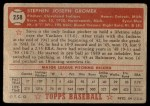 1952 Topps #258  Steve Gromek  Back Thumbnail
