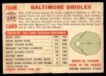 1956 Topps #100 D55  Orioles Team Back Thumbnail