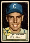 1952 Topps #211  Ray Coleman  Front Thumbnail