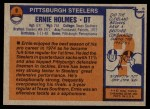 1976 Topps #9  Ernie Holmes  Back Thumbnail