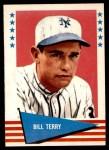 1961 Fleer #142  Bill Terry  Front Thumbnail
