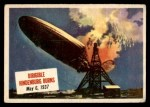1954 Topps Scoop #20   Dirigible Hindenburg Burns  Front Thumbnail