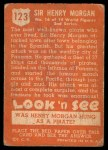 1952 Topps Look 'N See #123  Sir Henry Morgan  Back Thumbnail