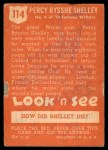 1952 Topps Look 'N See #114  Percy Shelley  Back Thumbnail