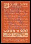 1952 Topps Look 'N See #124  Charles Darwin  Back Thumbnail