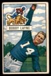 1951 Bowman #102  Bobby Layne  Front Thumbnail