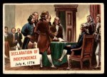 1954 Topps Scoop #111 xCOA  Declaration Of Independence Front Thumbnail