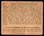 1938 Gum Inc. Horrors of War #11   Japanese Flagship Assailed in Whangpoo Back Thumbnail