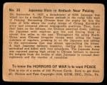 1938 Gum Inc. Horrors of War #33   Japanese Slain in Ambush Near Peiping Back Thumbnail