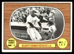 1967 Topps #153 L  -  Paul Blair 1966 World Series - Game #3 - Blair's Homer Defeats L.A. Front Thumbnail