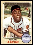 1968 Topps #394  Tommie Aaron  Front Thumbnail