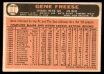 1966 Topps #319 BLU Gene Freese  Back Thumbnail