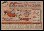 1958 Topps #203  Al Walker  Back Thumbnail