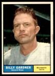 1961 Topps #123  Billy Gardner  Front Thumbnail