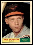 1961 Topps #182  Dave Nicholson  Front Thumbnail