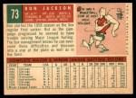 1959 Topps #73  Ron Jackson  Back Thumbnail