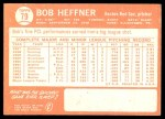 1964 Topps #79  Bob Heffner  Back Thumbnail