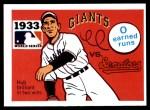 1971 Fleer World Series #31   1933 Giants / Senators  Front Thumbnail