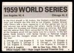 1971 Fleer World Series #57   -  Duke Snider 1959 Dodgers / White Sox Back Thumbnail