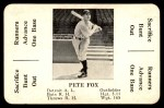 1936 S&S Game  Pete Fox  Front Thumbnail