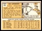 1963 Topps #464  Ken Aspromonte  Back Thumbnail