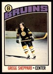 1976 O-Pee-Chee NHL #155  Gregg Sheppard  Front Thumbnail
