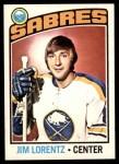 1976 O-Pee-Chee NHL #162  Jim Lorentz  Front Thumbnail