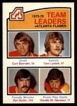 1976 O-Pee-Chee NHL #379   -  Curt Bennett / Tom Lysiak / Pat Quinn / Claude St. Sauveur Flames Leaders Front Thumbnail